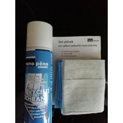NANOPĚNA ochrana plastů + profi utěrky