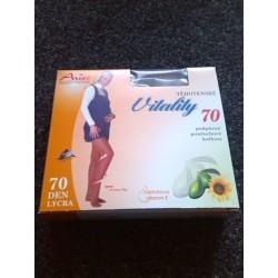 TĚHOTENSKÉ podpůrné punčochové kalhoty 70DEN antibakteriální