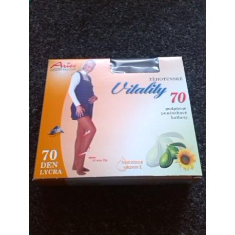 TĚHOTENSKÉ podpůrné punčochové kalhoty VITALITY 70DEN