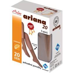 Ponožky antibakteriální 20DEN 5 párů v balení!