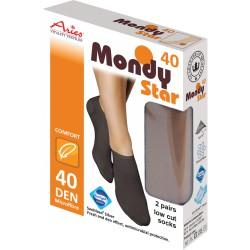 Silnější ponožky 40DEN s tvarovanou patou, antibakteriální